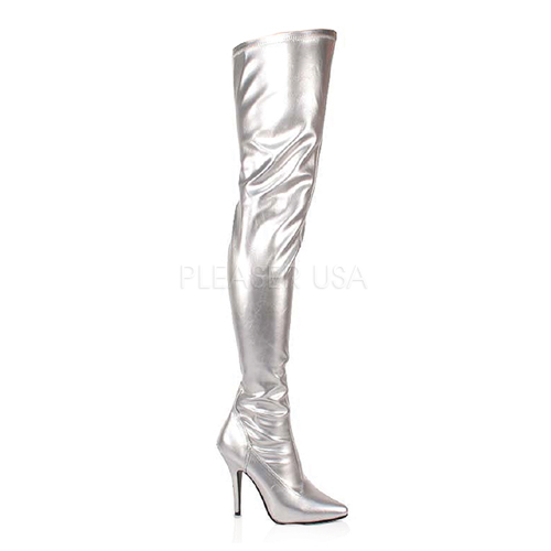 Thigh High Zip Up Stiletto Boot