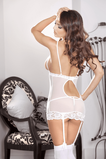 Seducing The Best Man Cupless Chemise & Thong Set
