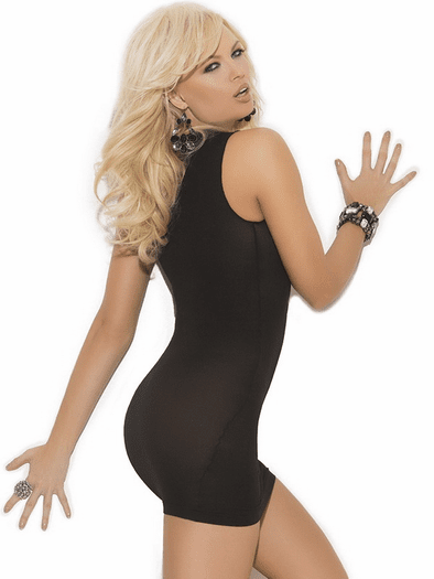 Seducing You Tonight Open Bust Mini Dress