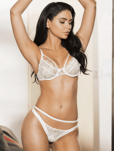 Seductive Eyelash Lace Bra & Thong Set