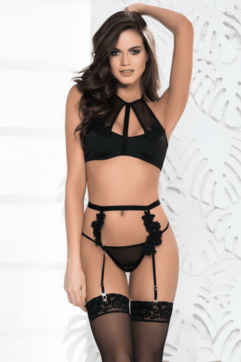Seductive Lace Garter Set
