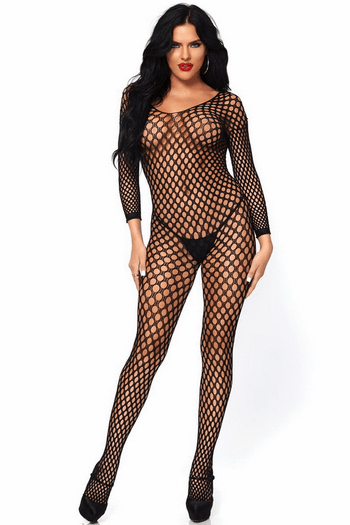 Nancy's Semaless Open Crotch Bodystocking