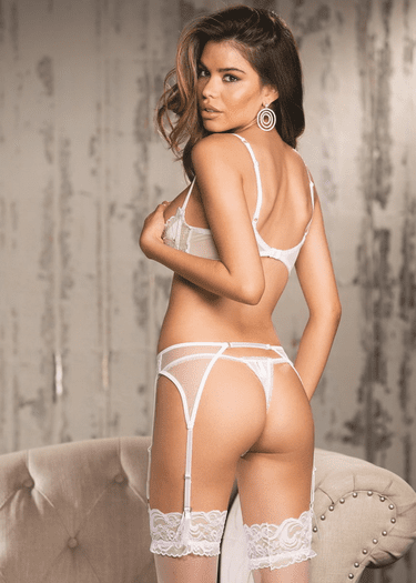 Sequin Embroidered Thong