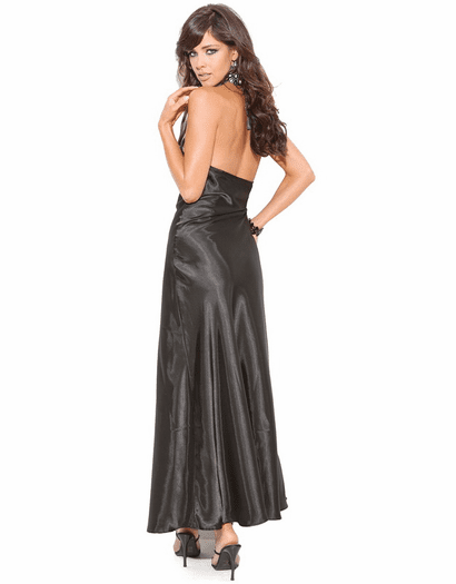 Serena Collection Satin Gown