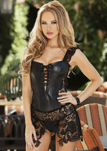 Sexy As Can Be Leather Corset