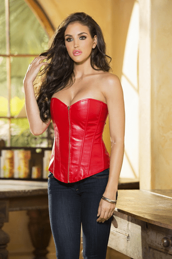 Sexy & Daring Leather Corset