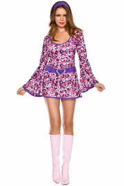 Disco Flower Power Go-go Girl Costume