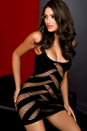 Sexy Open Weave Wrap Chemise