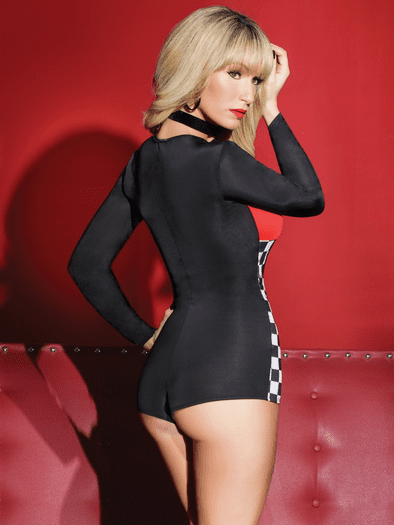 Sexy Racer Long Sleeve Romper