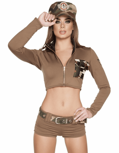 Sexy Solider Babe Costume