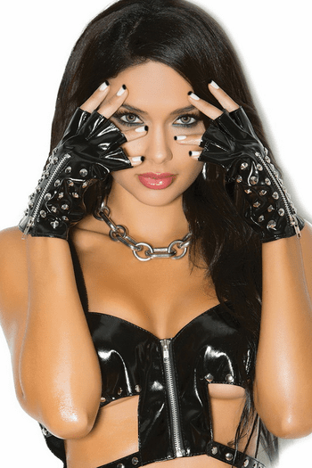 Vinyl Studded Gloves