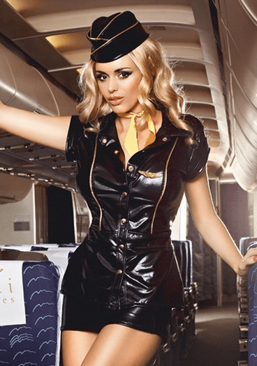 Sexy Teasing Airline Stewardess Costume