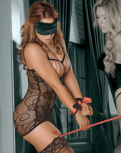 Lost In Lust Sexy Chemise Bondage Set