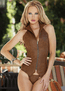 She's The One Brown Faux Leather Corset