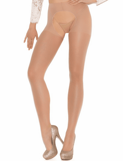 4f7873c6f Sheer Crotchless Pantyhose- Spicy Lingerie