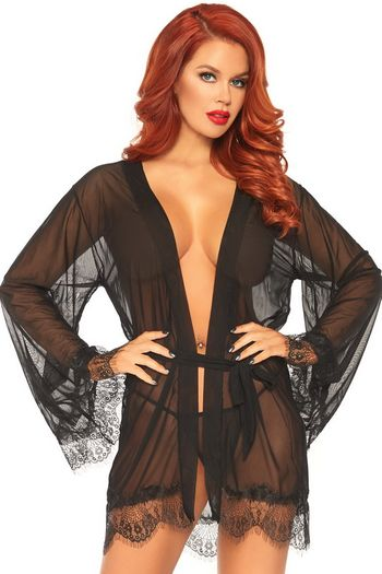 Sheer Robe & G-String Set
