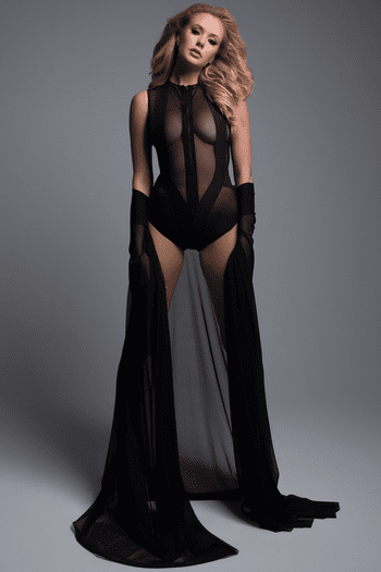 Sheer Sleeveless Bodysuit