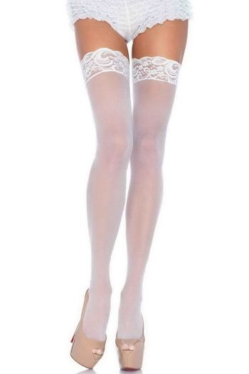 Sheer Lace Top Thigh High Stocking