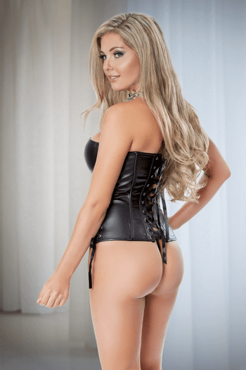 Shelly's Crush Leather Corset