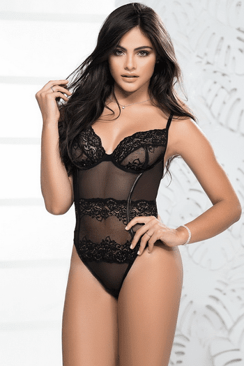 Shimmer Lace Teddy