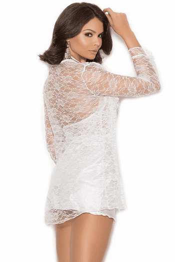 Simply Sassy Lace Chemise, Robe, & Thong Set