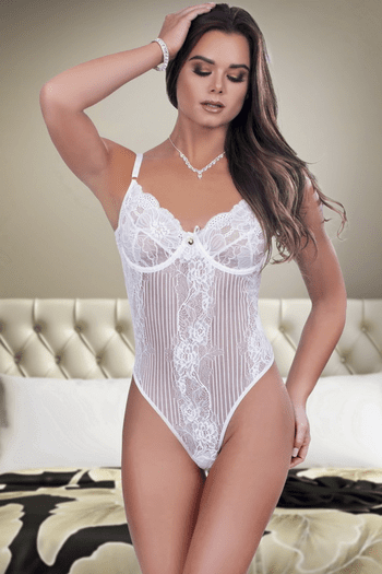 Soft Lace Underwire Teddy