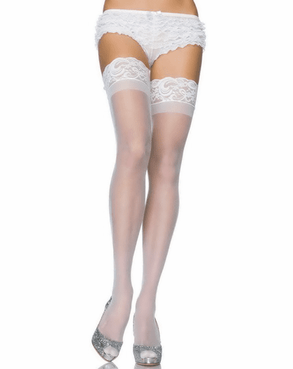 Stay Up Lycra Sheer Thigh High Stockings Spicy Lingerie