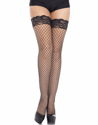 Stay Up Silicone Lace Top Net Stockings