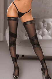 Stay Up Wet Look Stockings