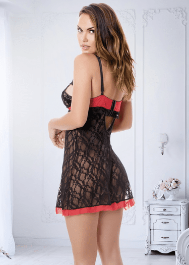 Stop To Love Lace Chemise & G-String Set
