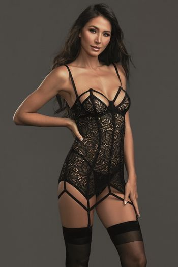 Strapless Stretch Lace Chemise