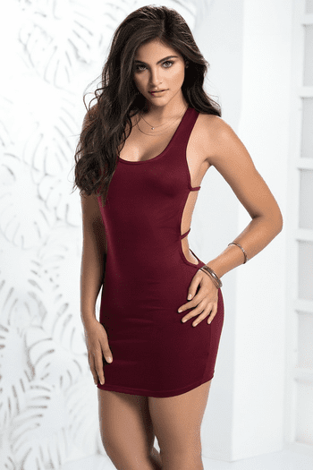 Strappy Back Mini Dress