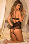 Strappy Lace & Mesh Teddy