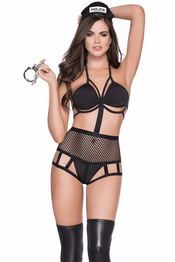 Strappy Police Lingerie Costume