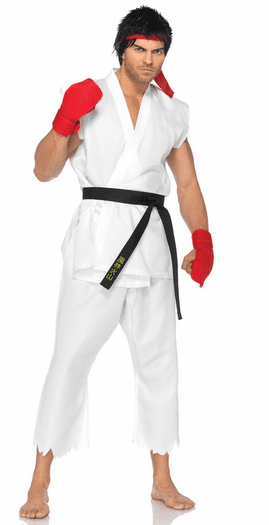 Street Fighter Ryu Mens Costume Spicy Lingerie