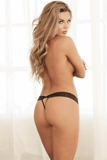 Stretch Lace Open Crotch Thong