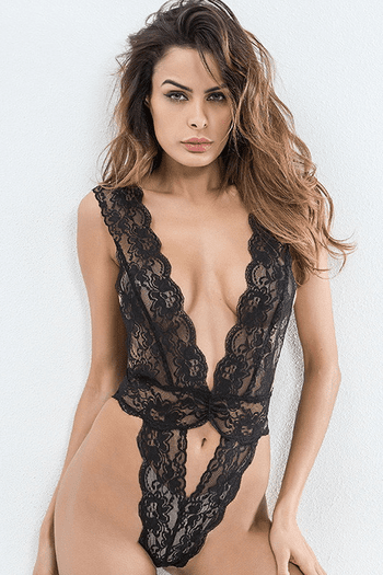 Stretch Lace Plunging Teddy