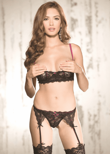 Striking Beauty Shelf Cup Bra & Thong Set