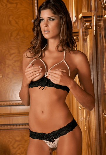 String Of Pearls Bra Set