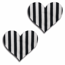 Striped Heart Pasties