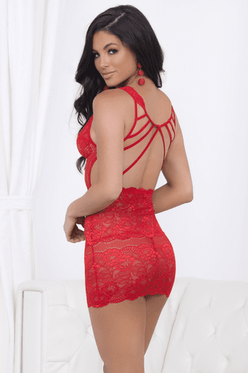 Stunning Red Lace Chemise
