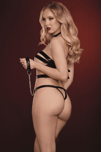 Submit To You Latex Strappy Teddy Set