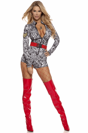 Sultry Salute Soldier Costume