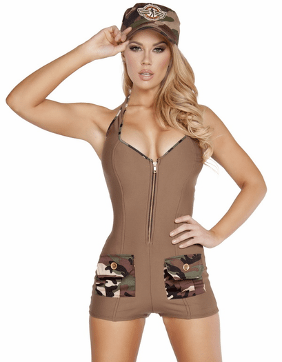 Sultry Solider Sexy Costume