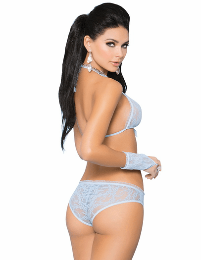 Summer Lover Lace Bra, Panty, & Gloves Set