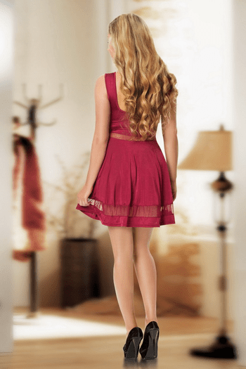 Summer Nights Burgundy Dress