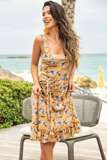 Sunshine Yellow Midi Dress