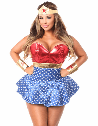 Super Hero Sexy Corset Costume
