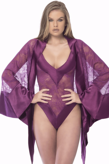 Surreal Sensual Touch Satin Robe