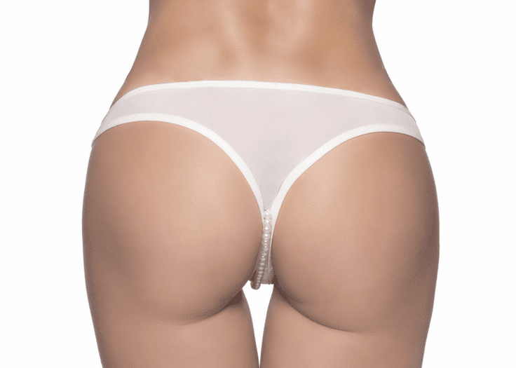 Crotchless Pearl Thong